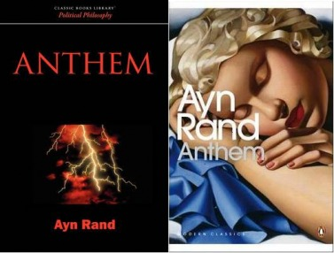 Anthem Book Covers Anthem By Ayn Rand